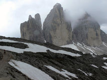 3 Zinnen. This are the Drei Zinnen in the Dolomite Royalty Free Stock Photography