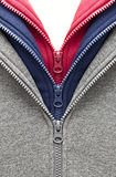 3 zippers Royalty Free Stock Photography