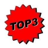 3 znaków na szczyt Zdjęcie Stock