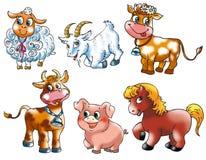 3 zwierząt gospodarstwo rolne Ilustracja Wektor