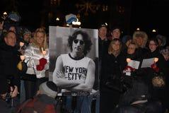 30ème anniversaire de la mort de John Lennon Images libres de droits