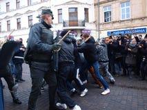 30ème anniversaire de loi martiale, Lublin, Pologne Images libres de droits