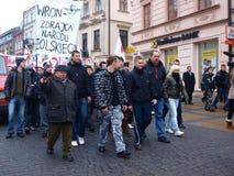 30ème anniversaire de loi martiale, Lublin, Pologne Photographie stock