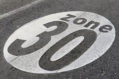 30个符号速度区域 库存图片