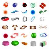 30个设计要素徽标部分 免版税图库摄影