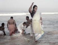 30印度7月喀拉拉香客 免版税图库摄影