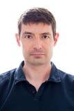 30岁末男性护照照片 免版税库存照片