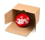 30概念百分比销售额 图库摄影