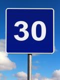 30 ορίου σημαδιών χλμ κυκλ&o Στοκ εικόνα με δικαίωμα ελεύθερης χρήσης