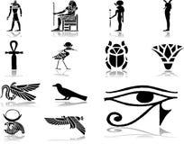 30 установленных икон Египета Стоковое Изображение