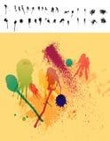 30 элементов потеков красят spatter Стоковая Фотография RF