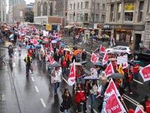 30.000 Educadores na batida em Alemanha Foto de Stock