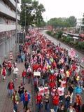 30.000 opvoeders op Staking in Duitsland Stock Afbeelding