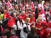 30.000 opvoeders op Staking in Duitsland Royalty-vrije Stock Foto's