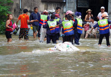 30,2011 oktober de vloed van Bangkok Stock Foto