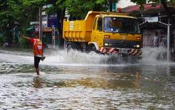 30,2011 oktober de vloed van Bangkok Stock Afbeelding