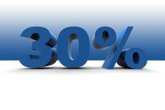 30% Image libre de droits