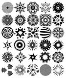 30 abstract symbols. 30 black abstract symbols, illustration Royalty Free Stock Images