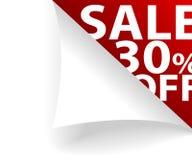 30 av försäljning Arkivfoto
