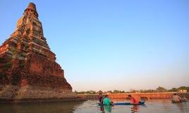 30 ayutthaya chaiwatthanaram 11月泰国wat 库存照片