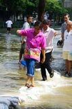 30 Bangkok 2011 powodzi Październik Zdjęcie Stock