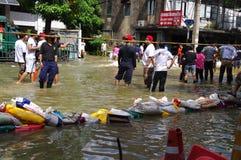 30 Bangkok 2011 powodzi Październik Fotografia Royalty Free