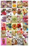 30 beeldenvoedsel: de zomer baksel en desserts   Royalty-vrije Stock Afbeelding