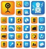 30 botones del Web Foto de archivo libre de regalías