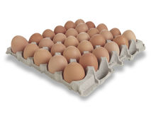 30 Brown Eggs Royalty Free Stock Photos