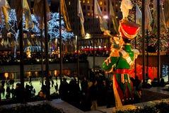 30 Centrum Rockefeller bij de Tijd van Kerstmis Stock Fotografie