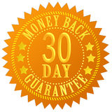 30 day money back. Guarantee seal Royalty Free Stock Image