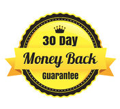 30 Day Money Back Ecommerce Badge. 30 Day Money Back Modern Vector eCommerce badge Royalty Free Stock Images