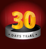 30 days trial design element. Originally created 30 days trial design element for multipurpose use Royalty Free Stock Image