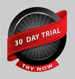 30 days trial design element Stock Images