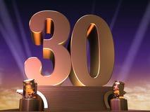 30 dourados ilustração do vetor