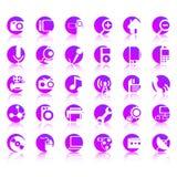 30 ikon wektor Zdjęcia Stock