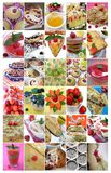 30 images food: summer baking and desserts. Collage of summer desserts and baking with berries royalty free stock image