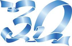 30 niebieskie wstążki Fotografia Stock