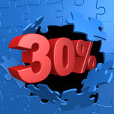30% Off. Computer Generated Image - 30% Off Stock Photo
