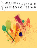 30 Paint Drips & Spatter Elements Royalty Free Stock Photography