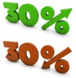 30 per cento Fotografia Stock Libera da Diritti