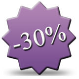 30 percent discount. Symbol purple Stock Photo