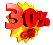 30 percent price off discount Royalty Free Stock Photo