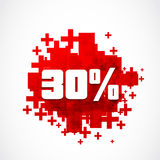 30 percent promotion. Concept abstract background Royalty Free Stock Photos