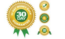 30 plecy dzień gwaranci pieniądze Obraz Royalty Free