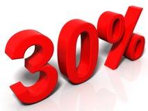 30 pour cent Photos libres de droits