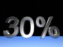30 pour cent Photographie stock libre de droits