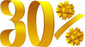 30 procent dyskontowych Zdjęcie Royalty Free