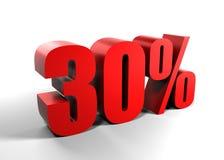 30 procent trettio Fotografering för Bildbyråer