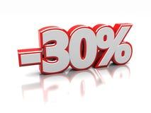 30 Prozent Lizenzfreie Stockfotos